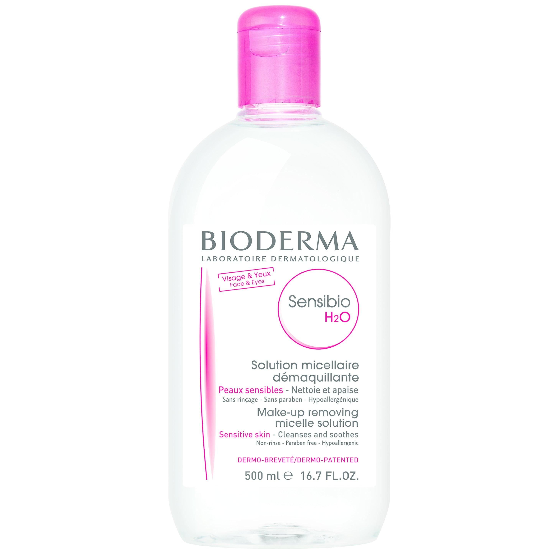 Bioderma Sensibio H20 Ήπιο Διάλυμα Καθαρισμού & Ντεμακιγιάζ Προσώπου Ματιών 500ml