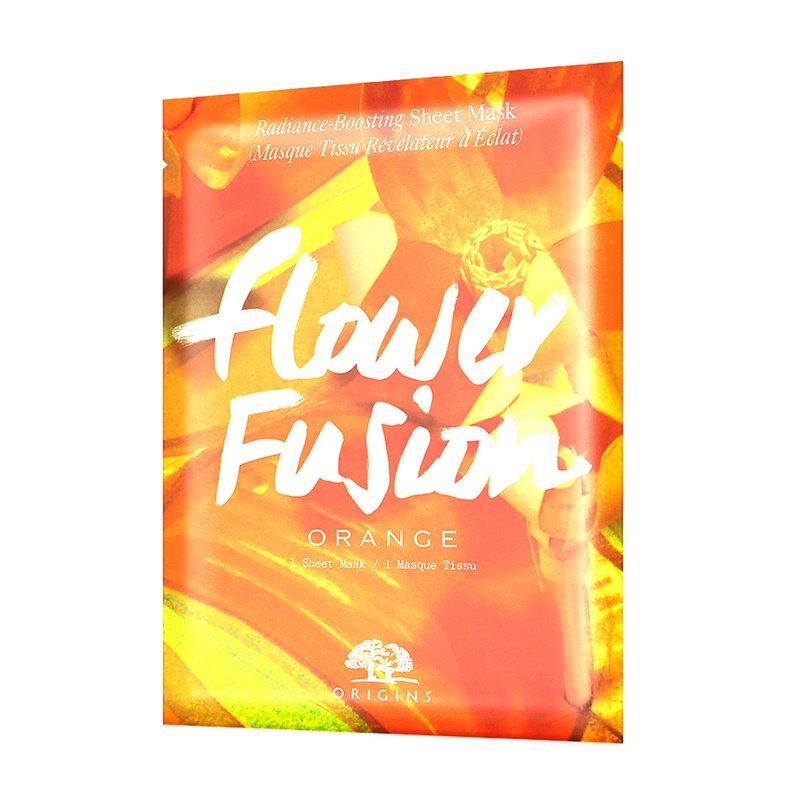 Origins Flower Fusion Radiance-Boosting Sheet Mask Orange Μάσκα Προσώπου Αποτοξινωτικής Δράσης Ιδανική για Θαμπή Επιδερμίδα