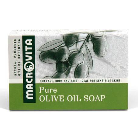Macrovita Olive Oil Soap Παραδοσιακό Σαπούνι Απο Λάδι Ελιάς 125gr