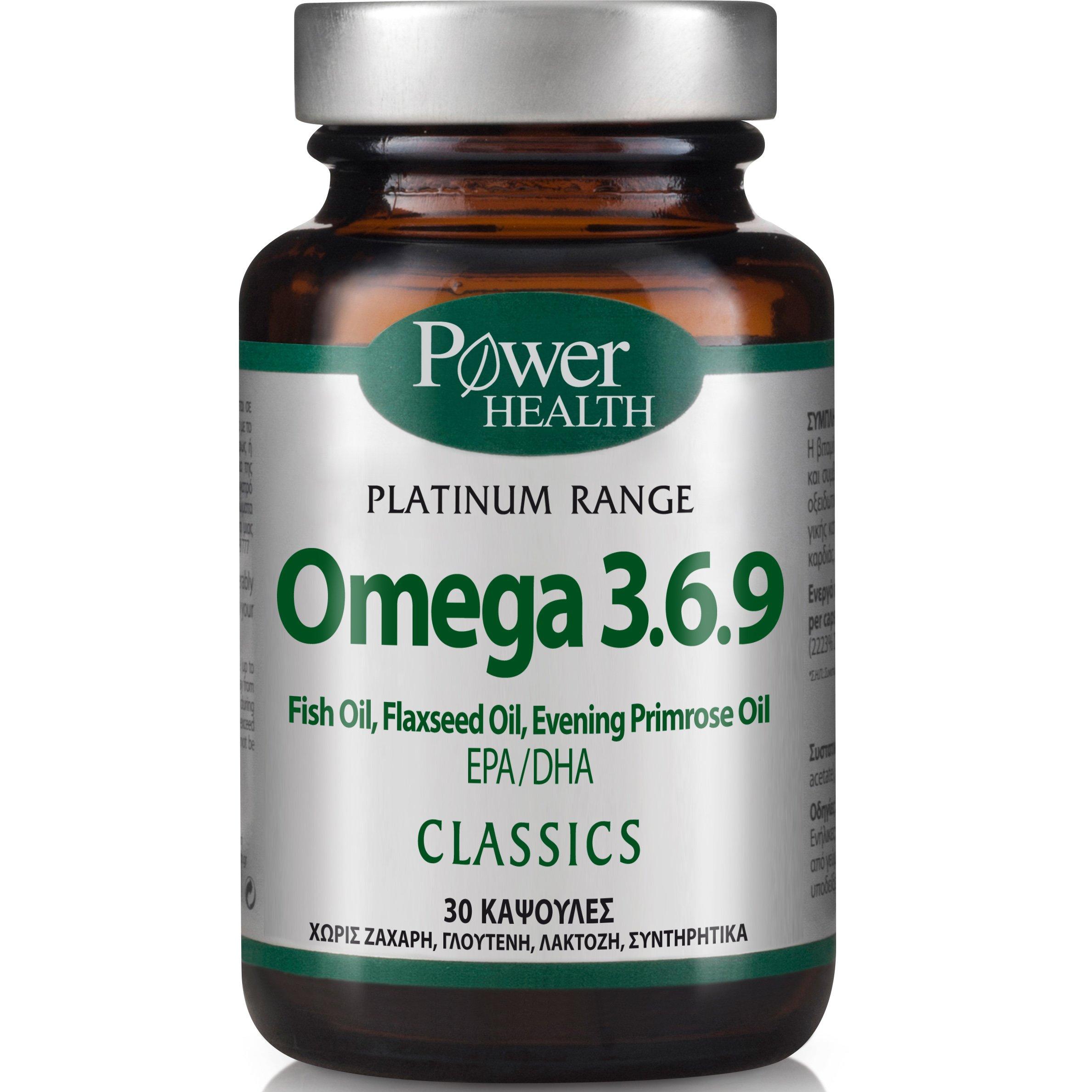 Power Health PlatinumOmega 3.6.9 Συμπλήρωμα Διατροφής για τη Φυσιολογική Λειτουργία της Καρδιάς30caps