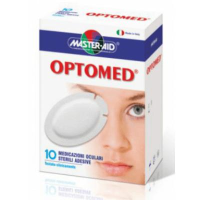 Master Aid Optomed 10 Super Αποστειρωμένη Αυτοκόλλητη Οφθαλμική Γάζα