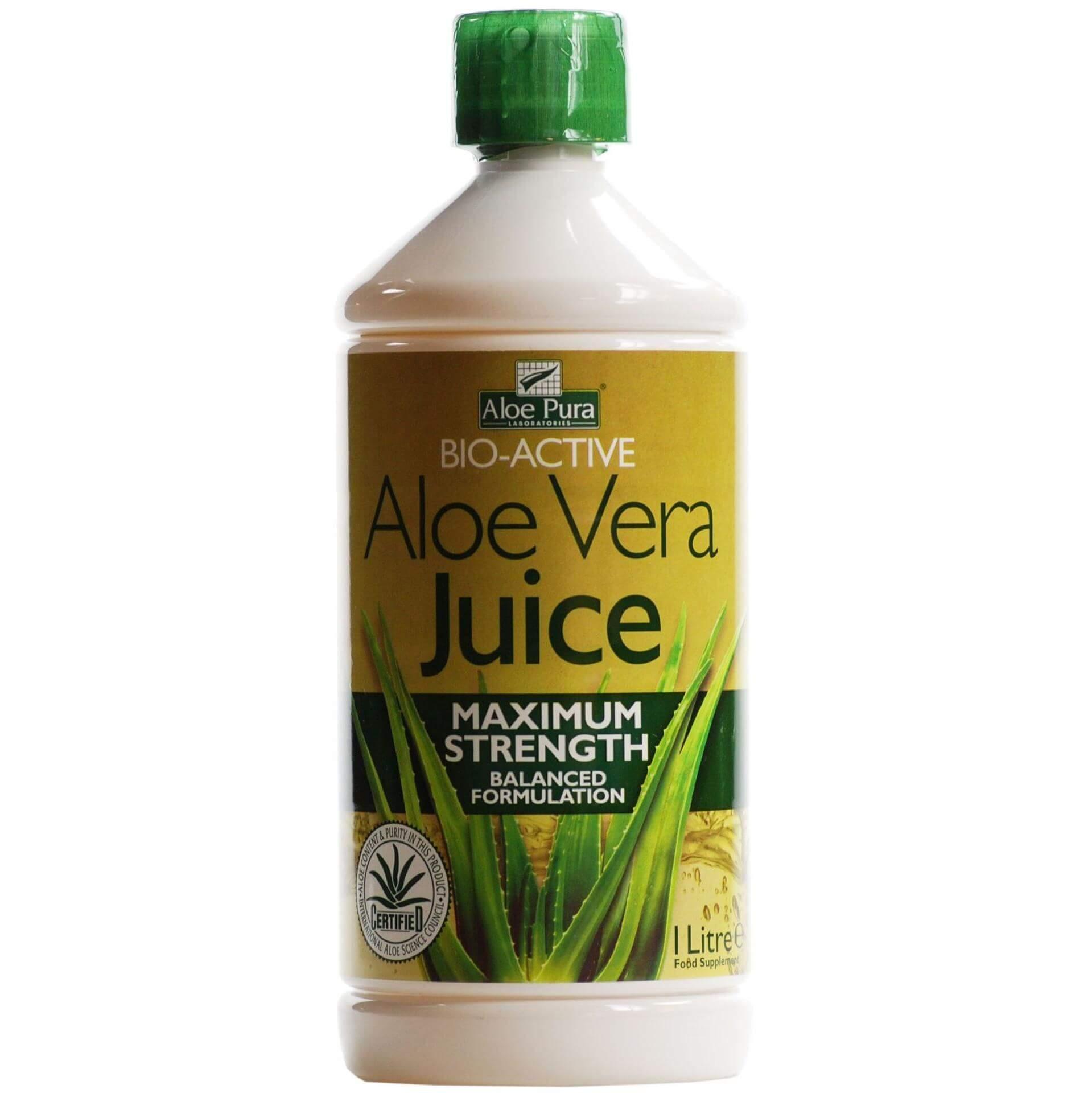 Optima Aloe Vera Juice Maximum Strength 100% Φυσικός Χυμός Αλόης 1L