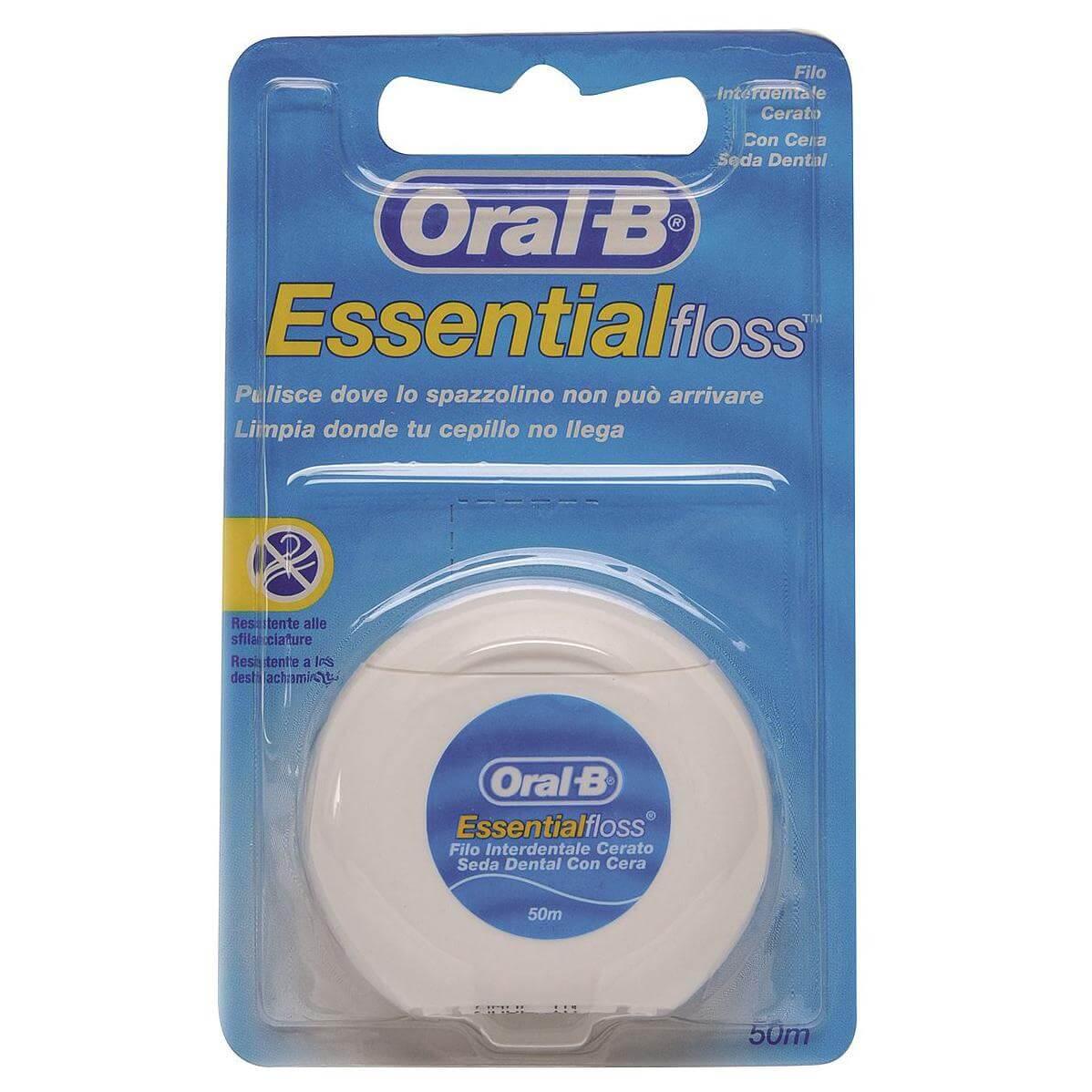 Oral-B Essential Floss Κηρωμένο Οδοντικό Νήμα 50m