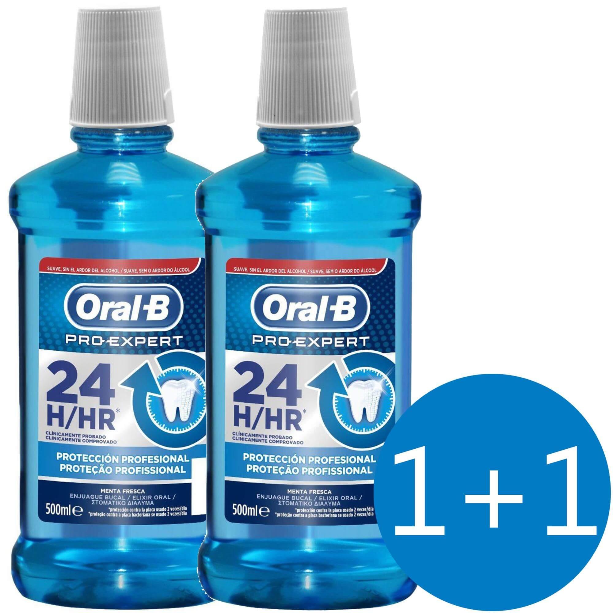 Oral b Πακέτο Προσφοράς Pro Expert 24hr Professional Protection Στοματικό Διάλυμα για 24ωρη Προστασία 500ml 1+1 Δώρο