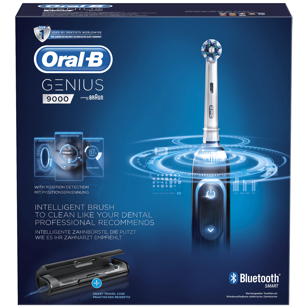 Oral-B Genius 9000 Ηλεκτρική Οδοντόβουρτσα, 3D Κίνηση Βουρτσίσματος & Ανιχνευτής Θέσης για Σωστό Βούρτσισμα σε Όλα τα Σημεία