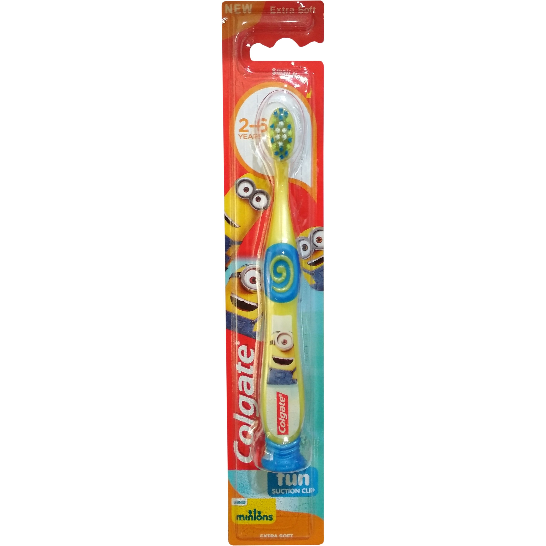 Colgate Minions Extra Soft Πολύ Μαλακή Οδοντόβουρτσα Σχεδιασμένη για τις Ανάγκες των Παιδιών 2-6 Ετών 1 Τεμάχιο
