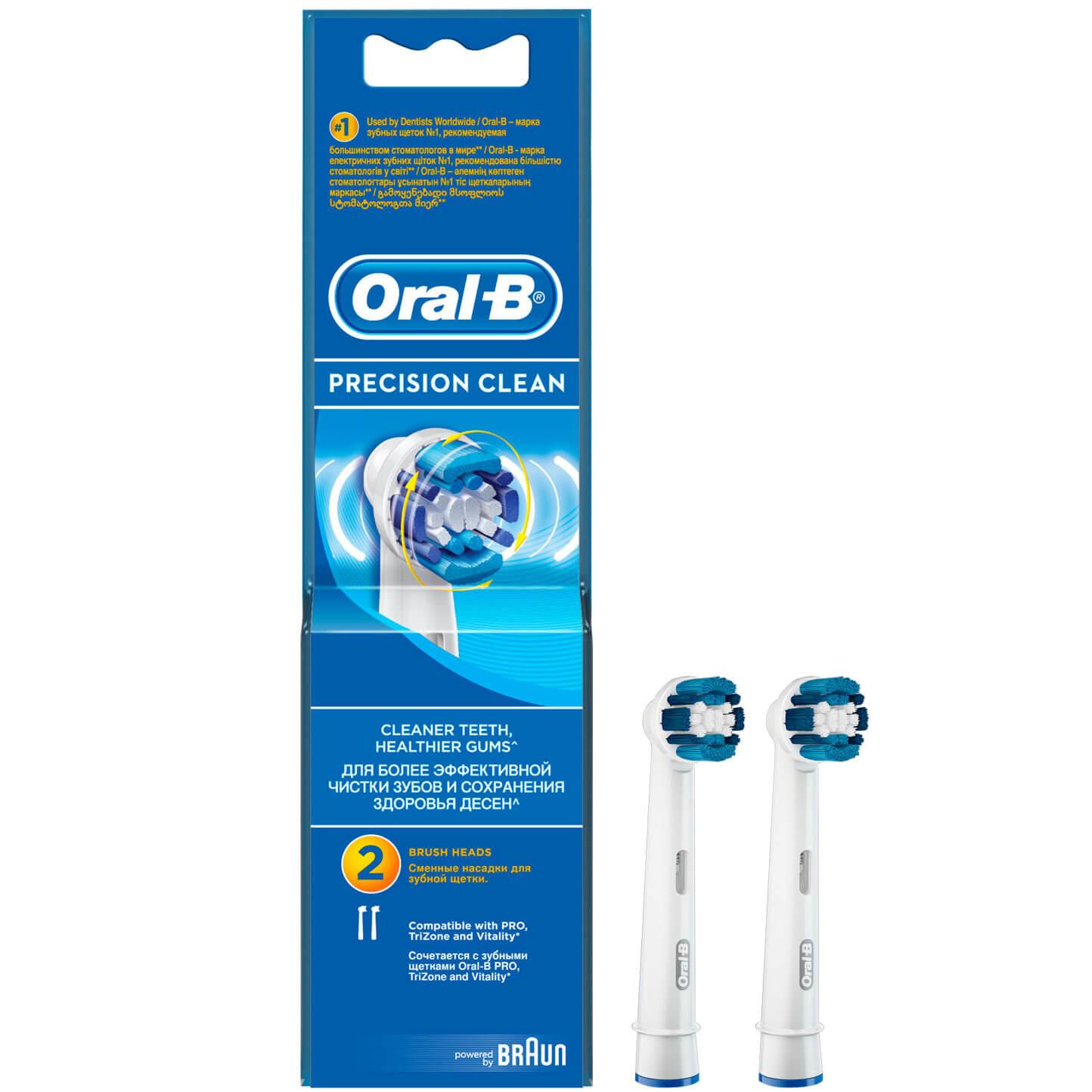 Oral-B Ανταλλακτικές Κεφαλές Βουρτσίσματος Precision Clean 2τμχ