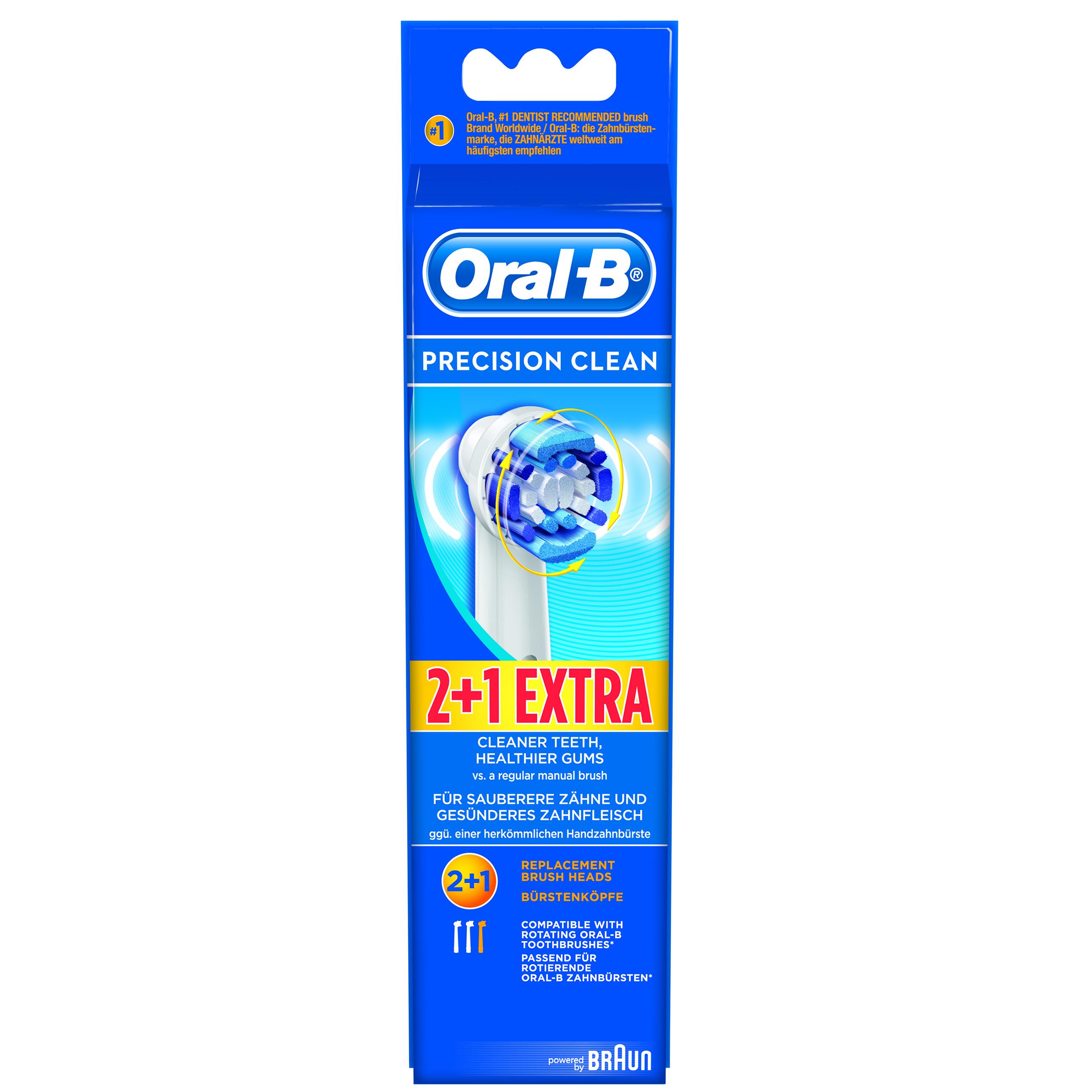Oral-B Vitality Precision Clean Ανταλλακτικές Κεφαλές 2+1 Δώρο