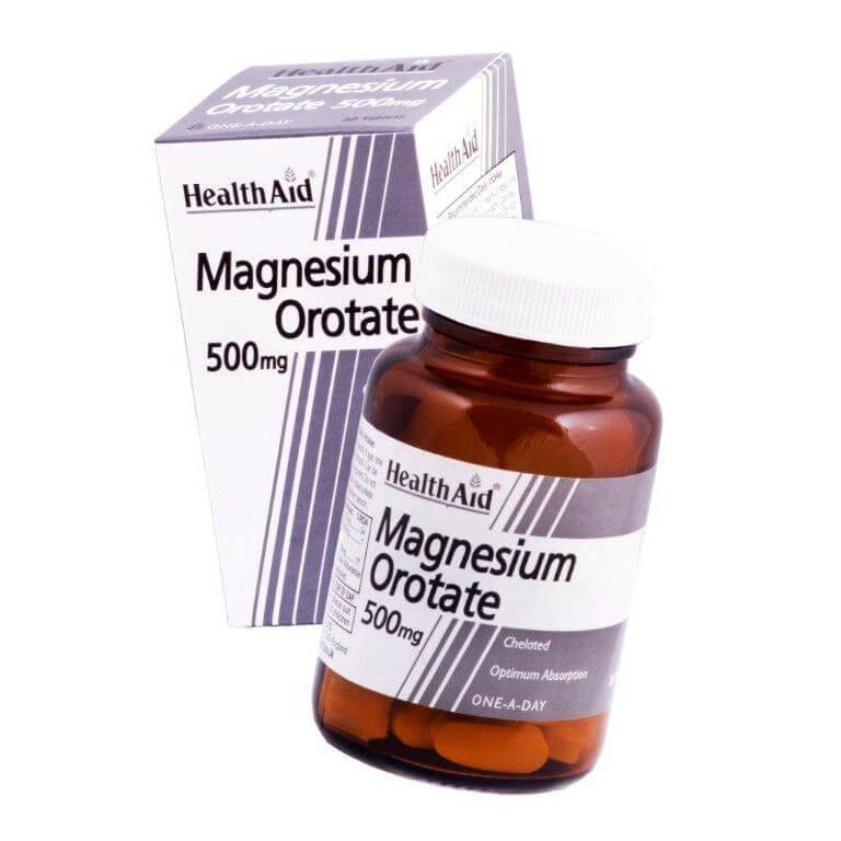 Health Aid Magnesium Orotate 500mg Χρήσιμο Στην Λειτουργία Του Καρδιαγγειακού Του Μυϊκού Και Του Νευρικού Συστήματος30 Ταμπλέτες