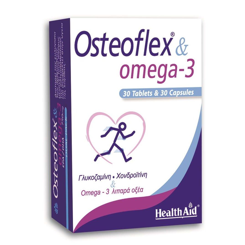 Health Aid Osteoflex & Omega-3 750mg Ευκίνητες Αρθρώσεις & Υγιες Κυκλοφορικό Duo 30caps+30tabs