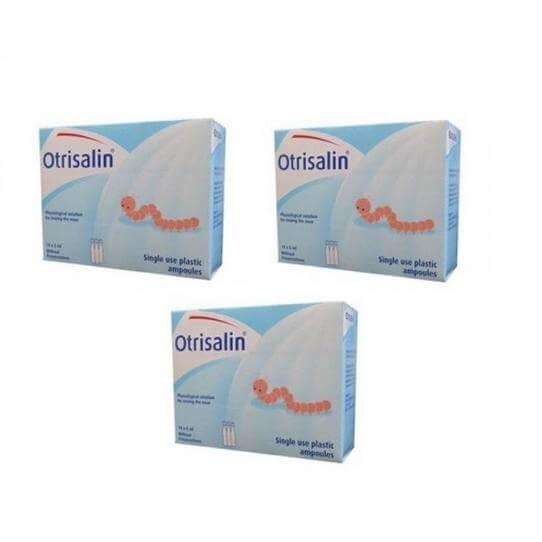 3 x Otrisalin Πλαστικές Αμπούλες 18×5 Καθαρισμός Μύτης