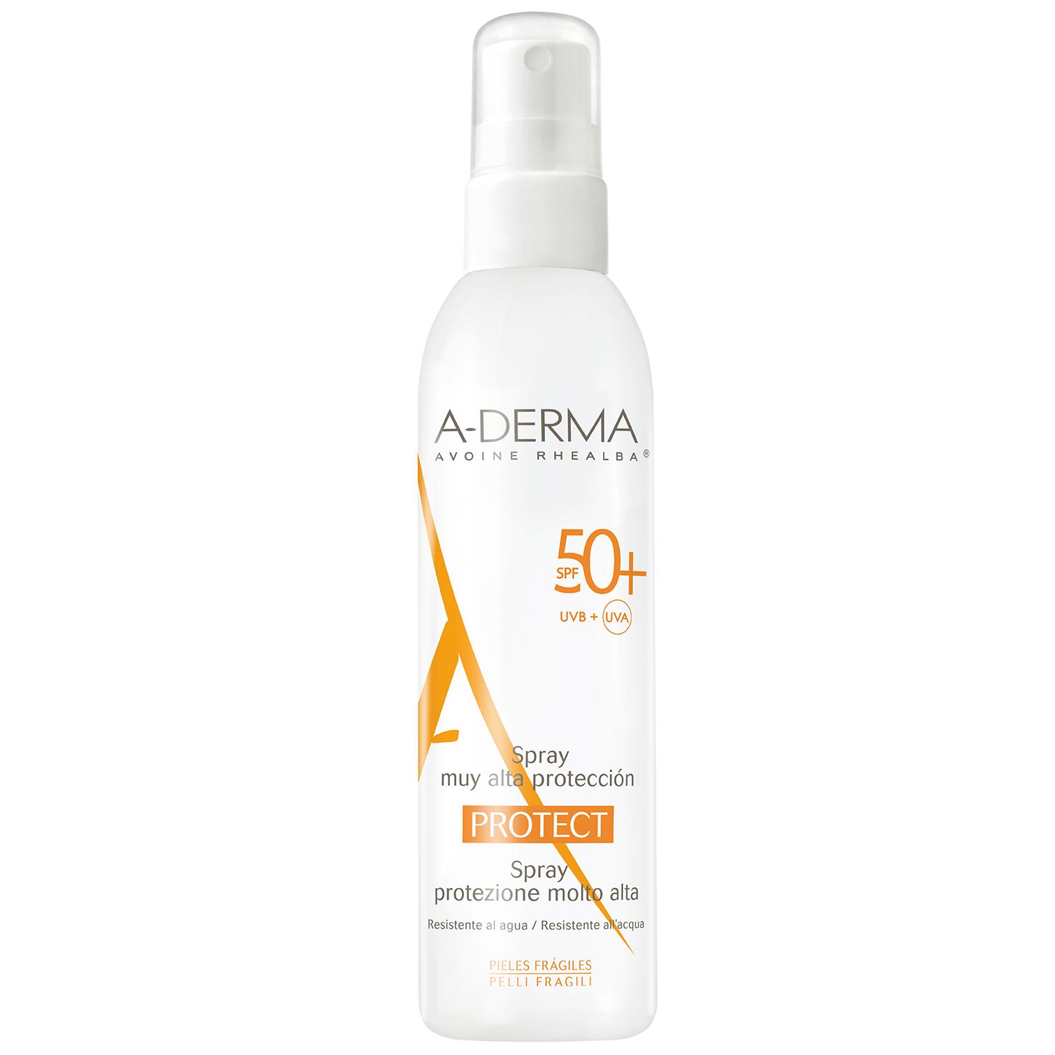 A-Derma Protect Spray Spf50+ Αντηλιακό Σπρέι Πολύ Υψηλής Προστασίας 200ml