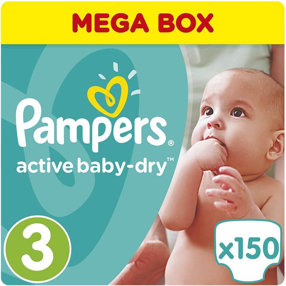 Pampers Active Baby Dry Mega Box No3 (5-9kg) 150 πάνες μητέρα παιδί   περιποίηση για το μωρό   πάνες για το μωρό