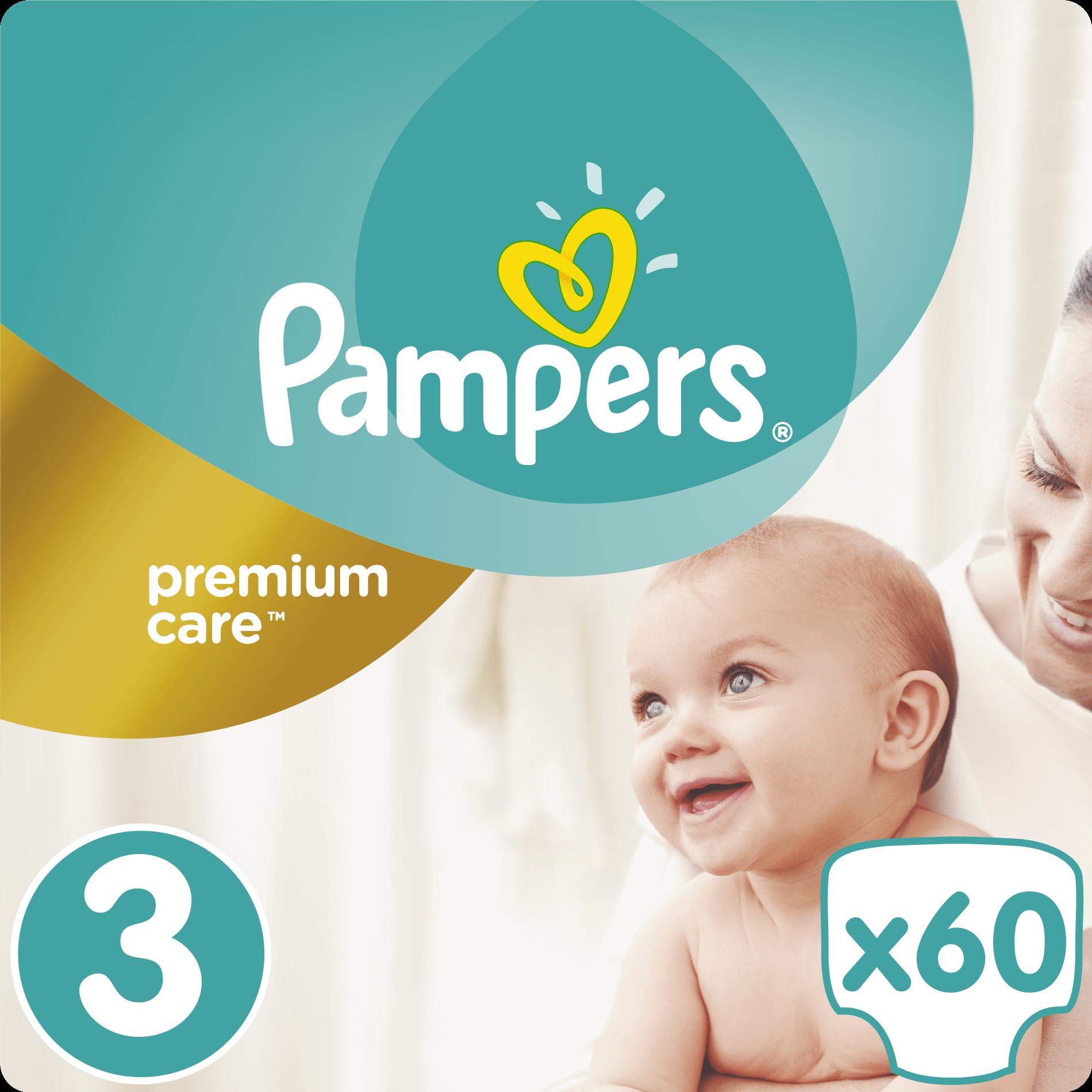 Pampers Premium Care No3 (5-9kg) 60 πάνες μητέρα παιδί   περιποίηση για το μωρό   πάνες για το μωρό