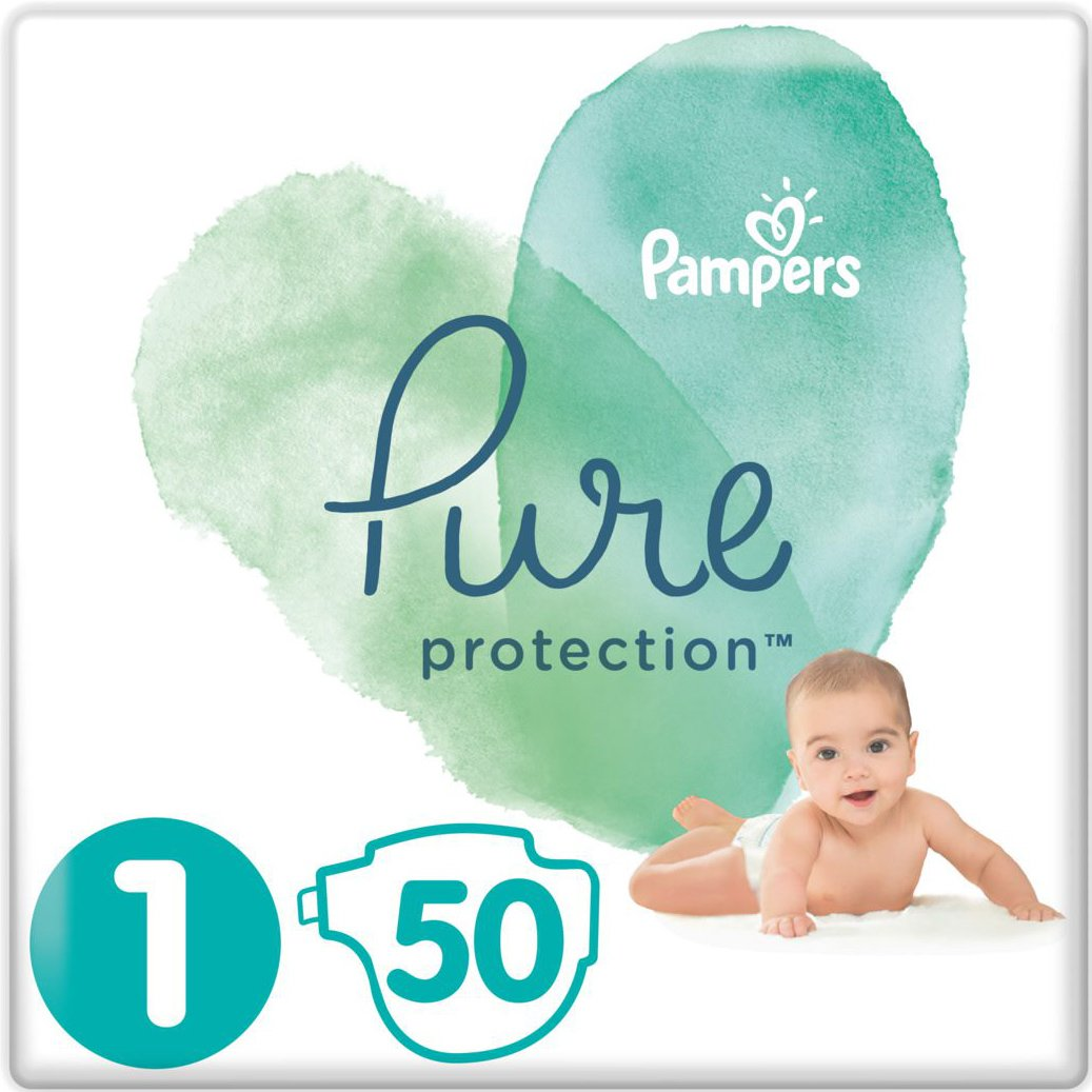 bc3a784b221 pharm24 Pampers Pure Protection No1 (2-5kg) 50 πάνες