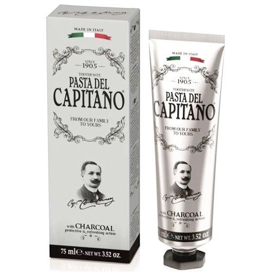 Pasta Del Capitano Charcoal Λευκαντική Οδοντόκρεμα με Ενεργό Φυσικό Άνθρακα 75ml
