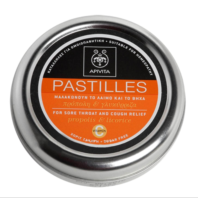 Apivita Pastilles Παστίλιες Για Τον Πονεμένο Λαιμό Και Το Βήχα Με Γλυκόριζα & Πρόπολη 45g