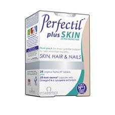 Vitabiotics Perfectil Plus Skin Δερμο-θρεπτικές Κάψουλες Και Αντιοξειδωτική Προστασία Στο Δέρμα 56Caps