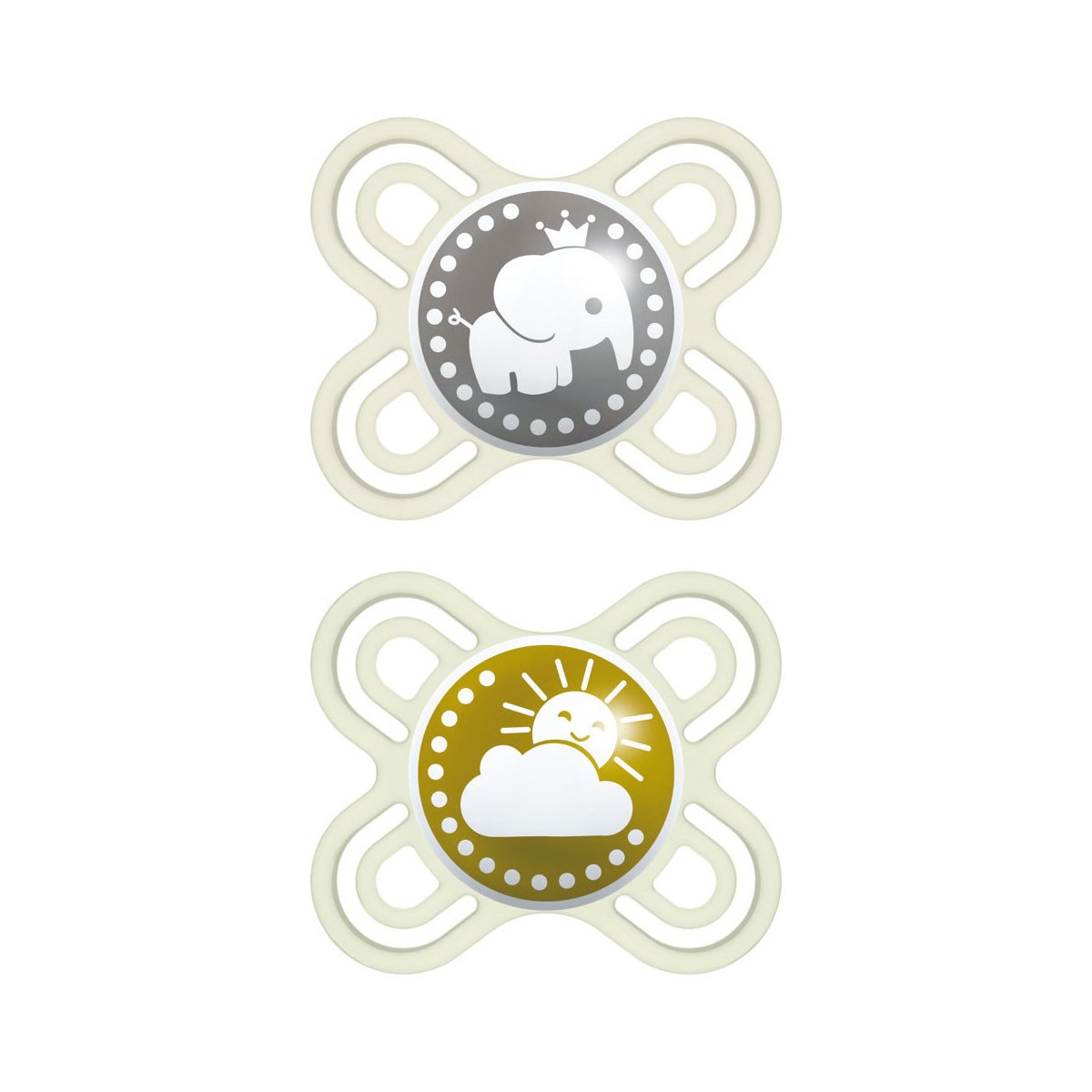 Mam Perfect Start Fairytale Ορθοδοντική Πιπίλα Σιλικόνης Ειδικά Σχεδιασμένη για Νεογέννητο Κωδ 081S από 0 Έως 2 Μηνών 2 Τεμάχια