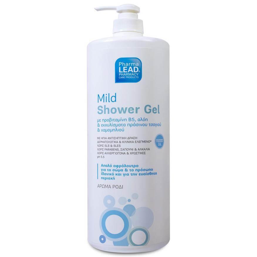 Pharmalead Mild Shower Gel Απαλό Αφρόλουτρο με Ουδέτερο Ph & Ήπια Αντισηπτική Δράση για Σώμα & Πρόσωπο 1L