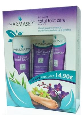 Pharmasept Tol Velvet Total Foot Care System Ολοκληρωμένο Σύστημα Περιποίησης Ποδιών με 3 Προϊόντα Tol Velvet 8472