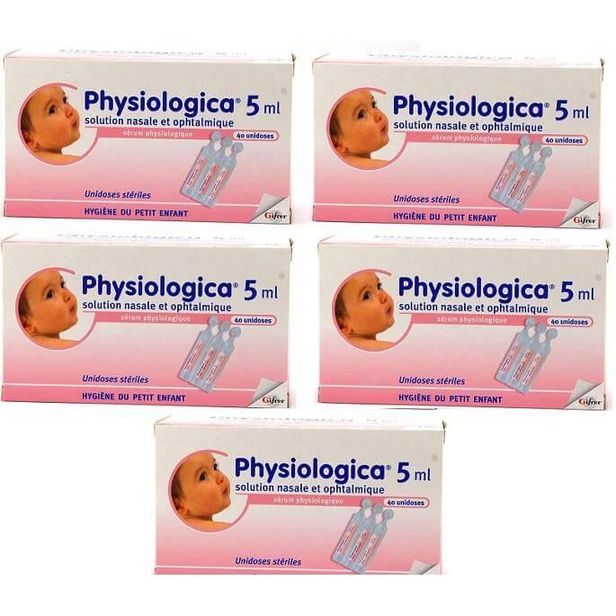 5 x Gifrer Physiologica 40x5ml