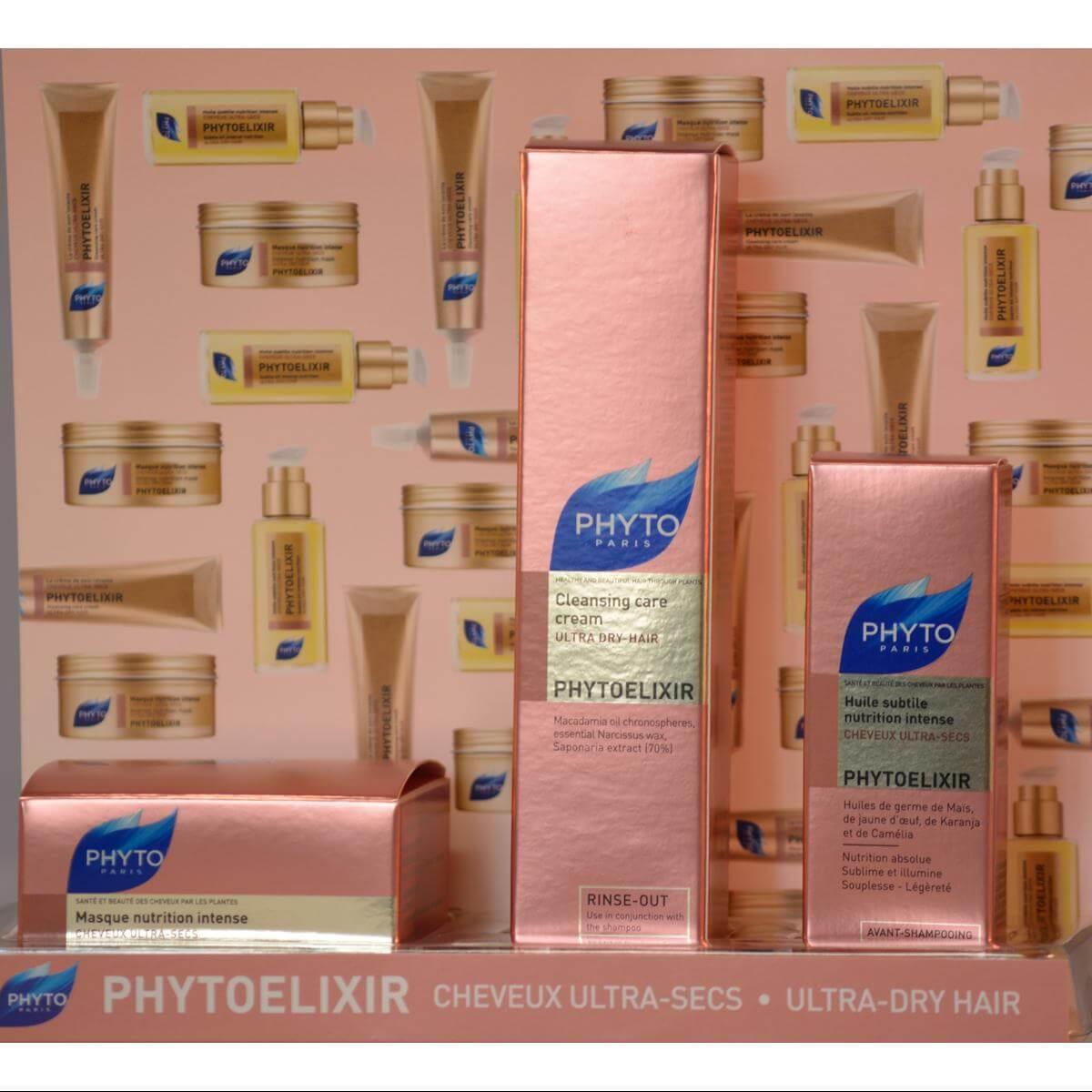 Phyto PhytoElixir Subtile Elixir Huile de Brillance 10ml, la Creme de Soin Lavante 30ml & Masque Nutrition 50ml