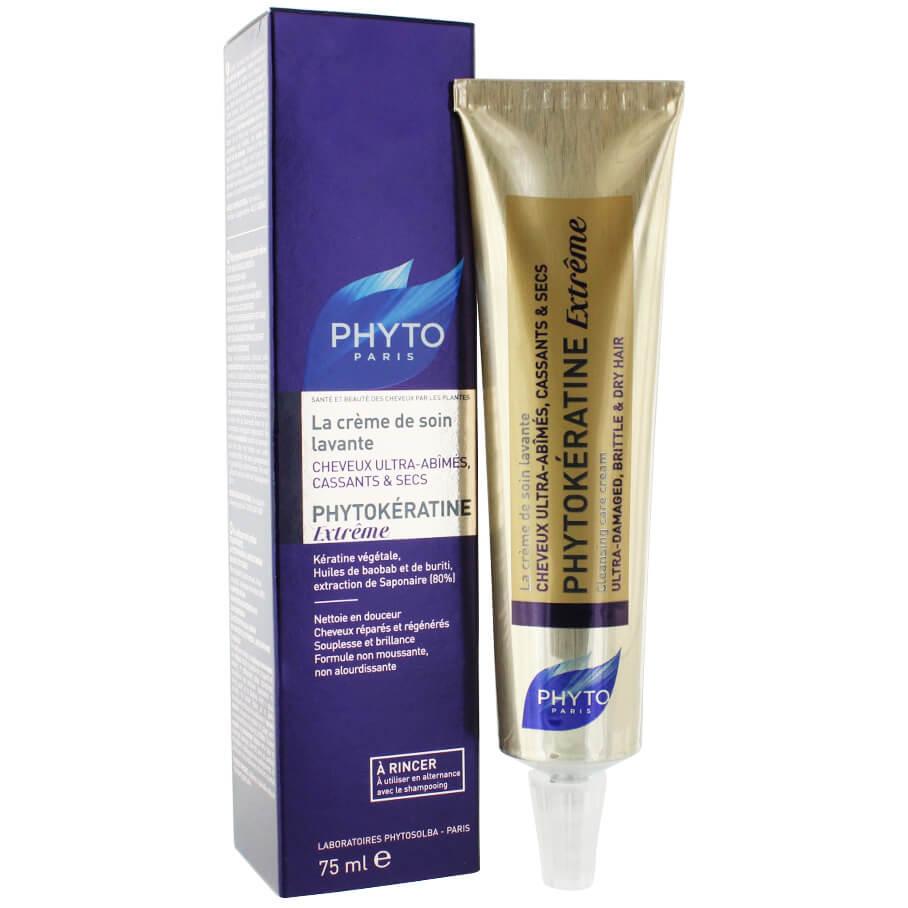 Phyto Phytokeratine Extreme Cleansing Care Cream Καθαριστική Κρέμα Περιποίησης για Κατεστραμμένα & Αφυδατωμένα Μαλλιά 75ml