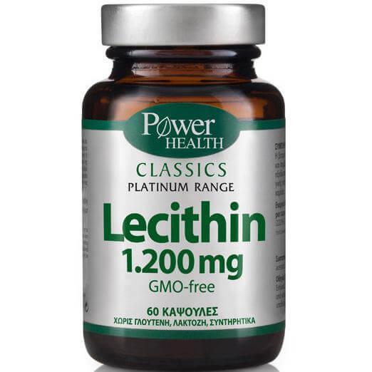 Power Health Platinum Lecithin 1.200mg Συμπλήρωμα Διατροφής με Λεκιθίνη 1.200mg 60caps