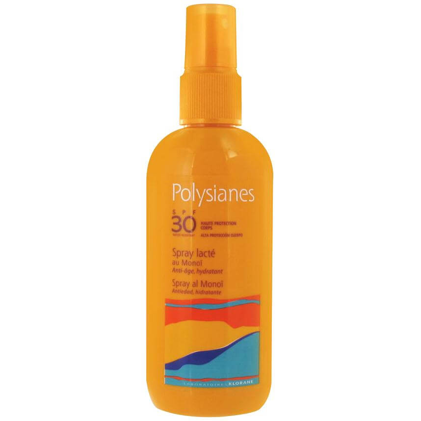 Polysianes High Protection Milky Spray With Monoï Spf30 Αντηλιακό Γαλάκτωμα σε Μορφή Sray Υψηλής Προστασίας για το Σώμα 200ml