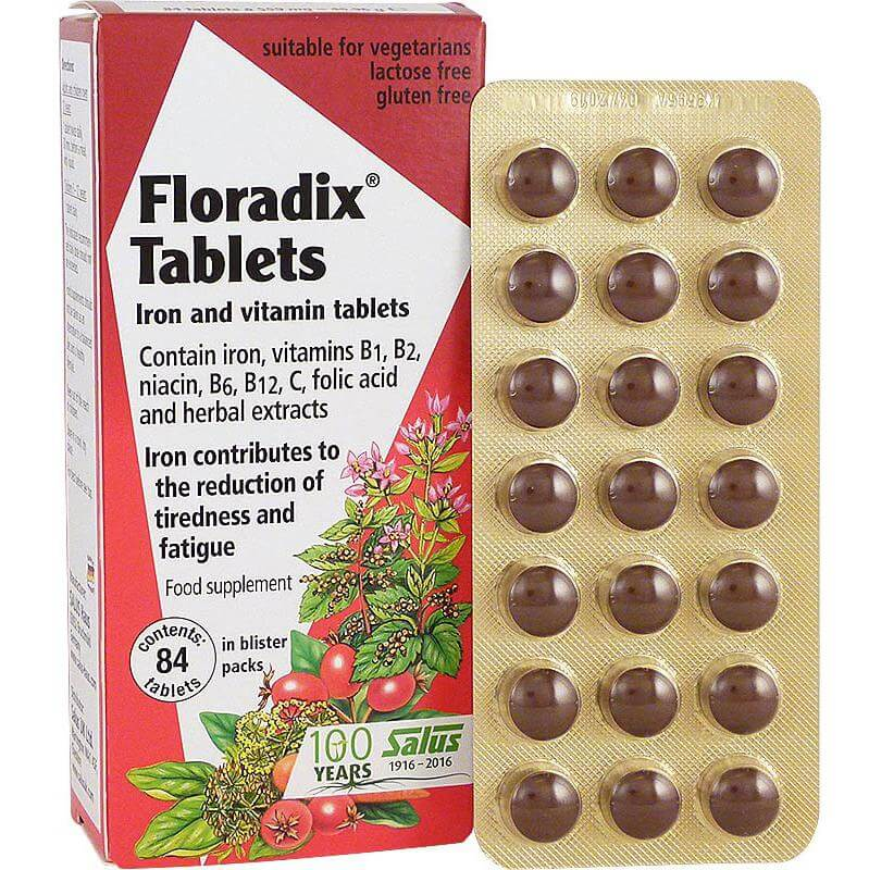 Power Health Salus Floradix Tablets Σίδηρος Φυσική Τόνωση 84Tabs