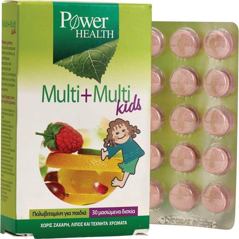 Power Health Multi+Multi Kids Παιδικό Πολυβιταμινούχο Συμπλήρωμα Διατροφής 30 Μασώμενα Δισκία