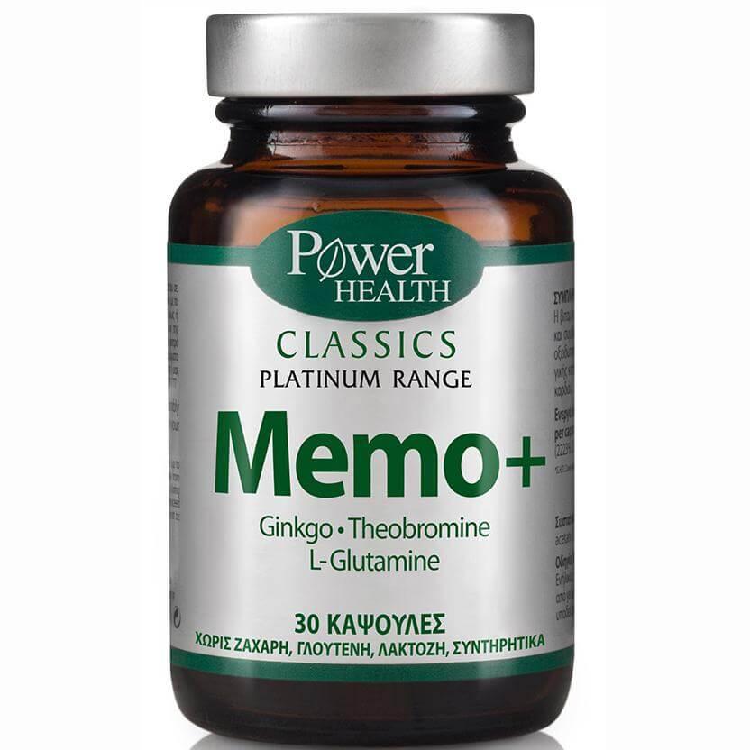 Power Health Platinum Range Memo+ Ενίσχυση Tης Εγκεφαλικής Λειτουργίας 30caps