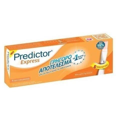 Predictor Express 1 Τεστ Εγκυμοσύνης με Γρήγορο Αποτέλεσμα σε 1 Λεπτό (1 Τεστ)