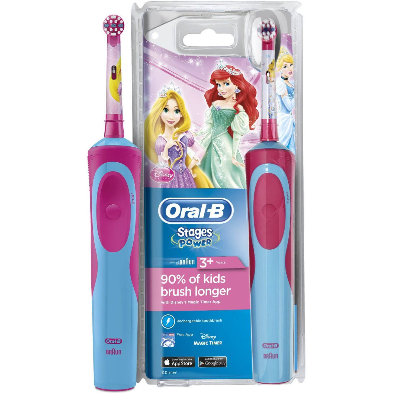 Oral-B Vitality Stages Princess 3+ years Παιδική Ηλεκτρική Οδοντόβουρτσα Πριγκίπισσα 1 τεμάχιο