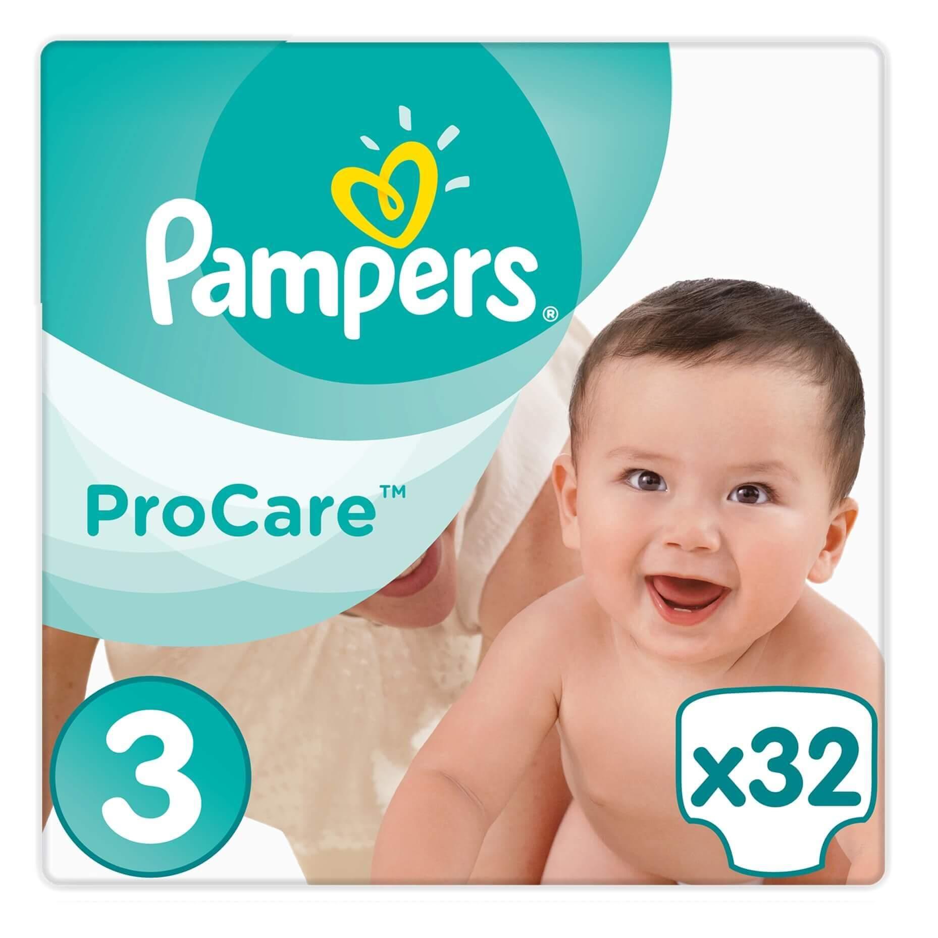 Pampers ProCare Premium Protection No3 (5-9kg) 32 πάνες 20316