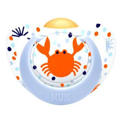Nuk Genius Color Πιπίλα Καουτσούκ με Κρίκο Χωρίς BPA – Μέγεθος 1 (0-6 μηνών)