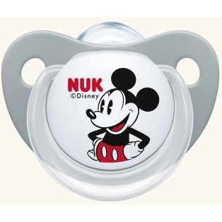 Nuk Trendline Disney Mickey Πιπίλα Γκρι Σιλικόνης 0-6m 1 τμχ