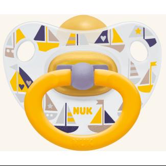 Nuk Classic Happy Kids καουτσούκ με κρίκο, μεγέθη 1-3 – Μέγεθος 2 (6-18 μηνών)