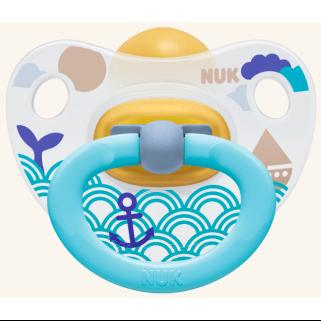 NUK Classic Happy Kids Πιπίλα Καουτσούκ Με Κρίκο Μεγέθη 1-3 – Μέγεθος 2 (6-18 μηνών)