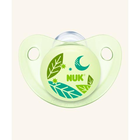 NUK Trendline Night & Day Πιπίλα Σιλικόνης Xωρίς Kρίκο – Μέγεθος 1 (0-6 μηνών)