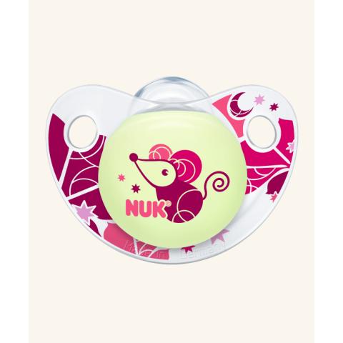 NUK Trendline Night & Day Πιπίλα Σιλικόνης Χωρίς Κρίκο – Μέγεθος 1 (0-6 μηνών)