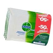 Dettol Υγρά Αντιβακτηριδιακά Μαντηλάκια Καθαρισμού για το δέρμα & τις λείες επιφάνειες 3 τεμ. με 15 μαντηλάκια
