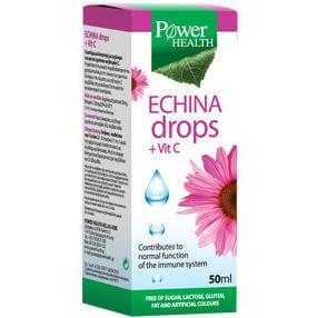 Power Health Echina Drops Vitamin C Εχινάκεια με Βιταμίνη C για Ενίσχυση Ανοσοποιητικού 50ml