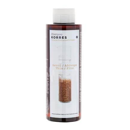 Korres Σαμπουάν Πρωτείνες Ρυζιού & Τίλιο Λεπτά/Αδύναμα Μαλλιά 250ml