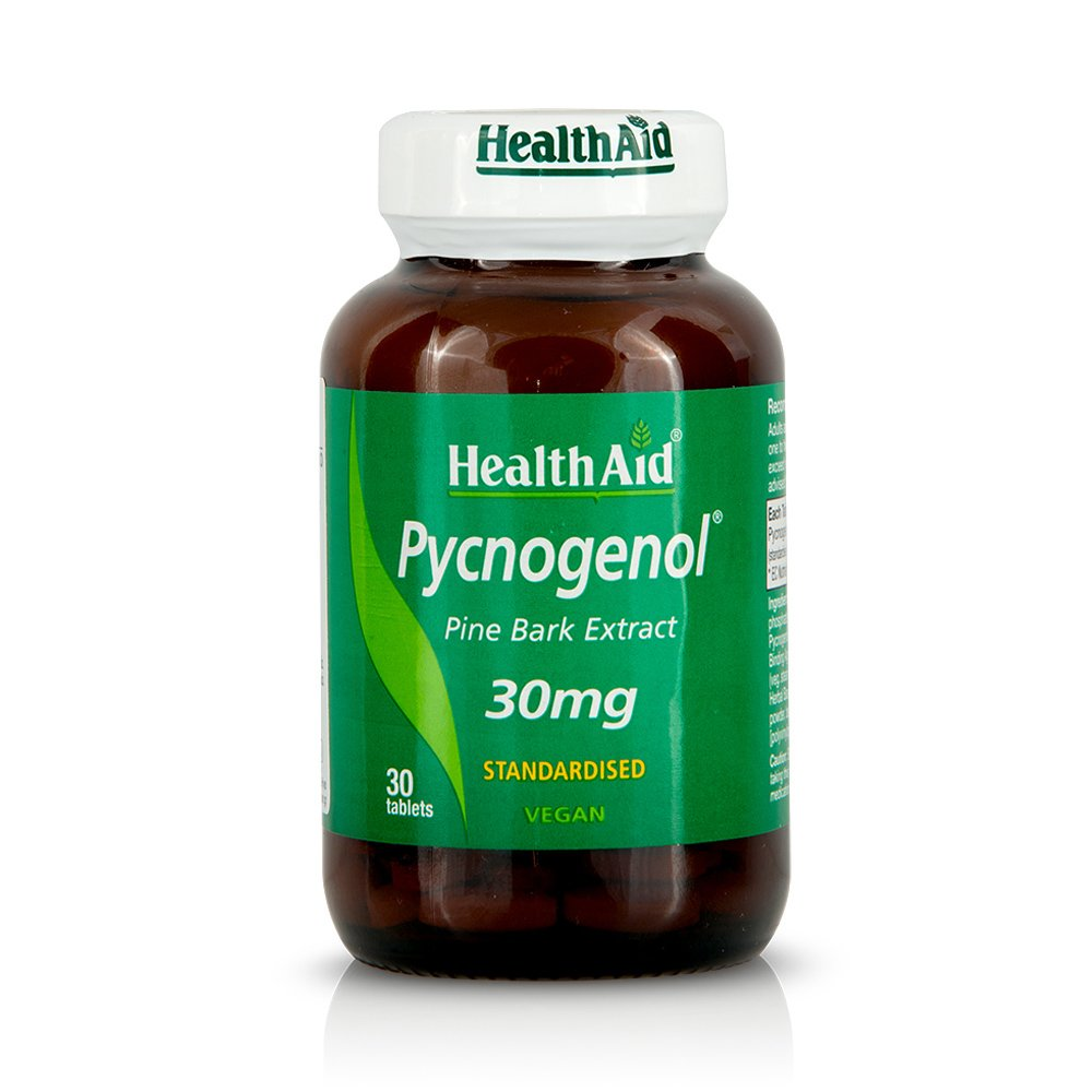 Health Aid Pycnogenol Πυκνογενόλη 30mg Pinus Maritima Αντιοξειδωτικό με Αντιγηραντικές Ιδιότητες 30tabs