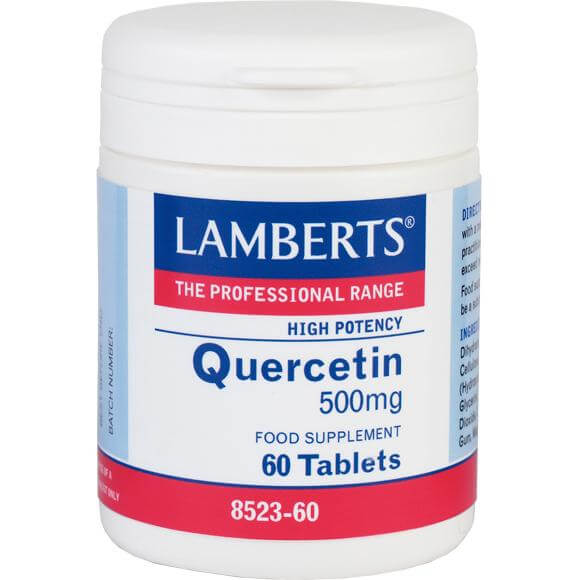 LambertsQuercetin Συμπλήρωμα Διατροφής ΑντιοξειδωτικήςΔράσης 500mg 60tabs