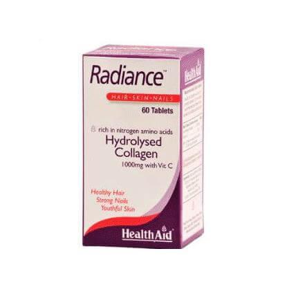 Health Aid Radiance Hydrolysed Collagen 1000mg Υδρολυμένο Κολλαγόνο με Βιταμίνη C 60tabs
