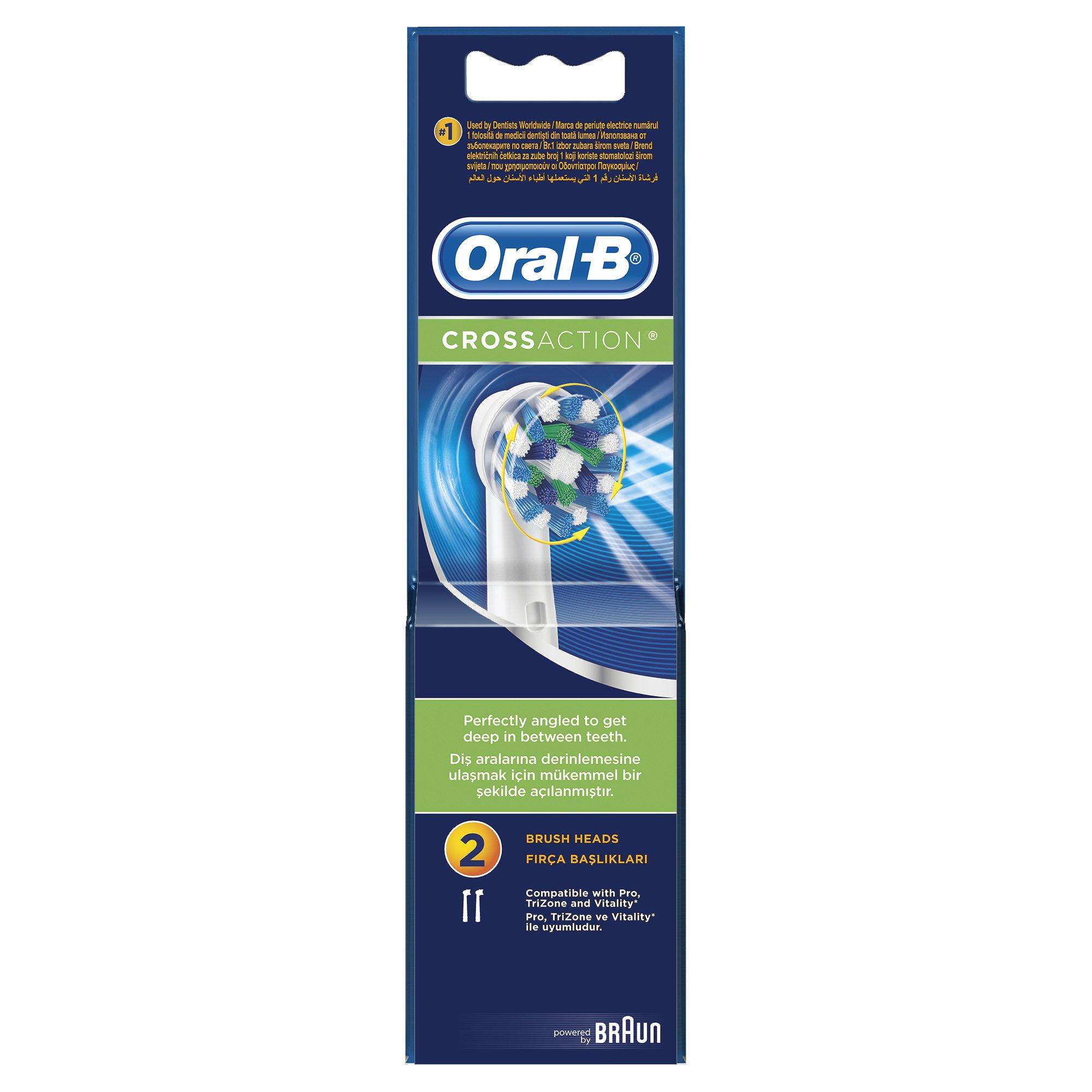 Oral-B Ανταλλακτικές Κεφαλές Cross Action, 2τμχ