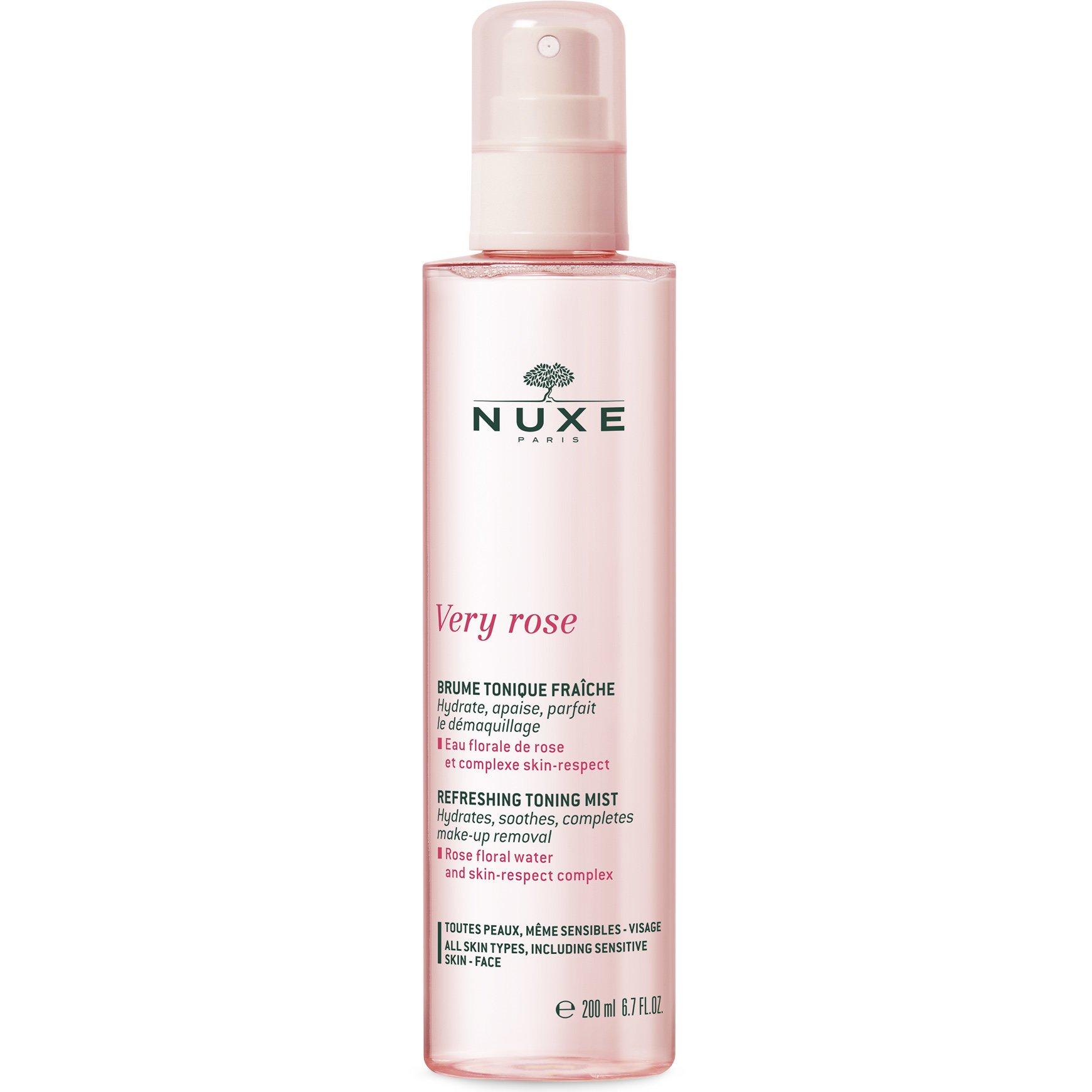 Nuxe Very Rose Refreshing Toning Mist Δροσιστική Τονωτική & Ενυδατική Λοσιόν σε Spray για το Πρόσωπο με Ροδόνερο 200ml